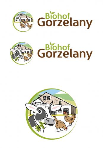 Logo-Design für den Biohof Gorzelany auf der Schwäbischen Alb der Eier, Fleisch und Gemüse verkauft