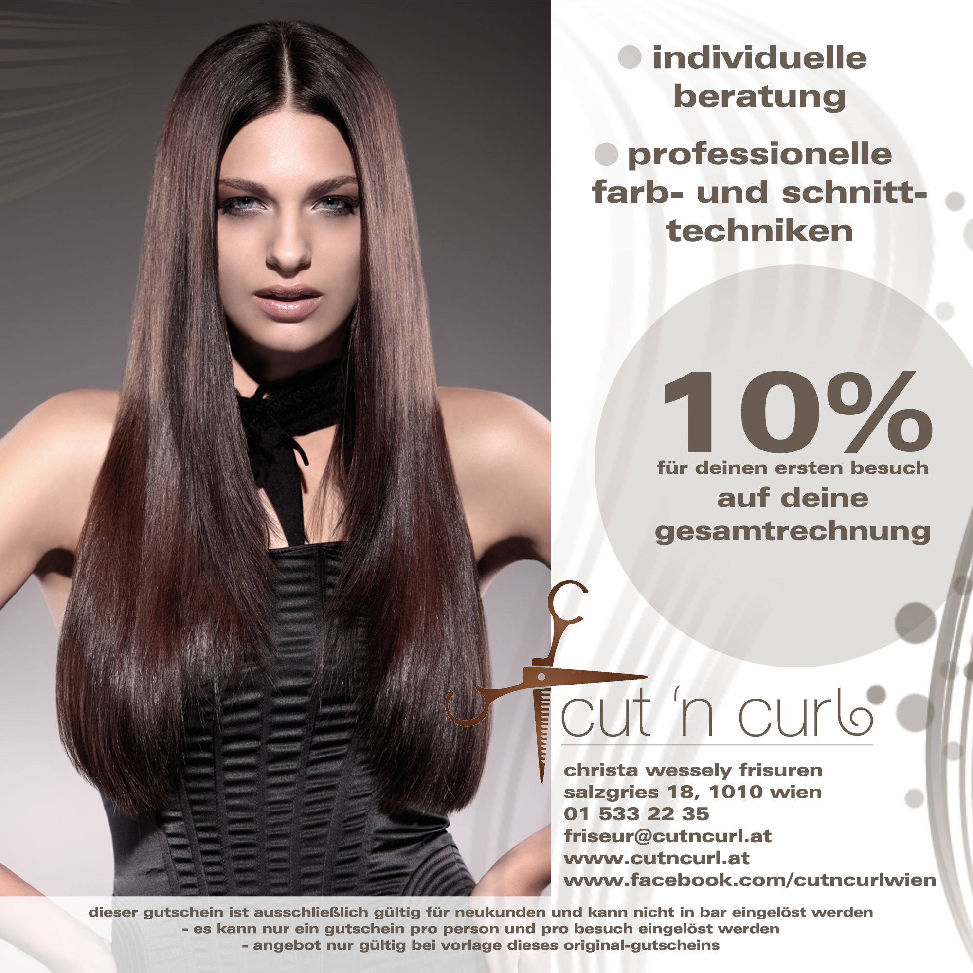 Flyer Design Für Friseursalon Flyer Design Designonclickcom