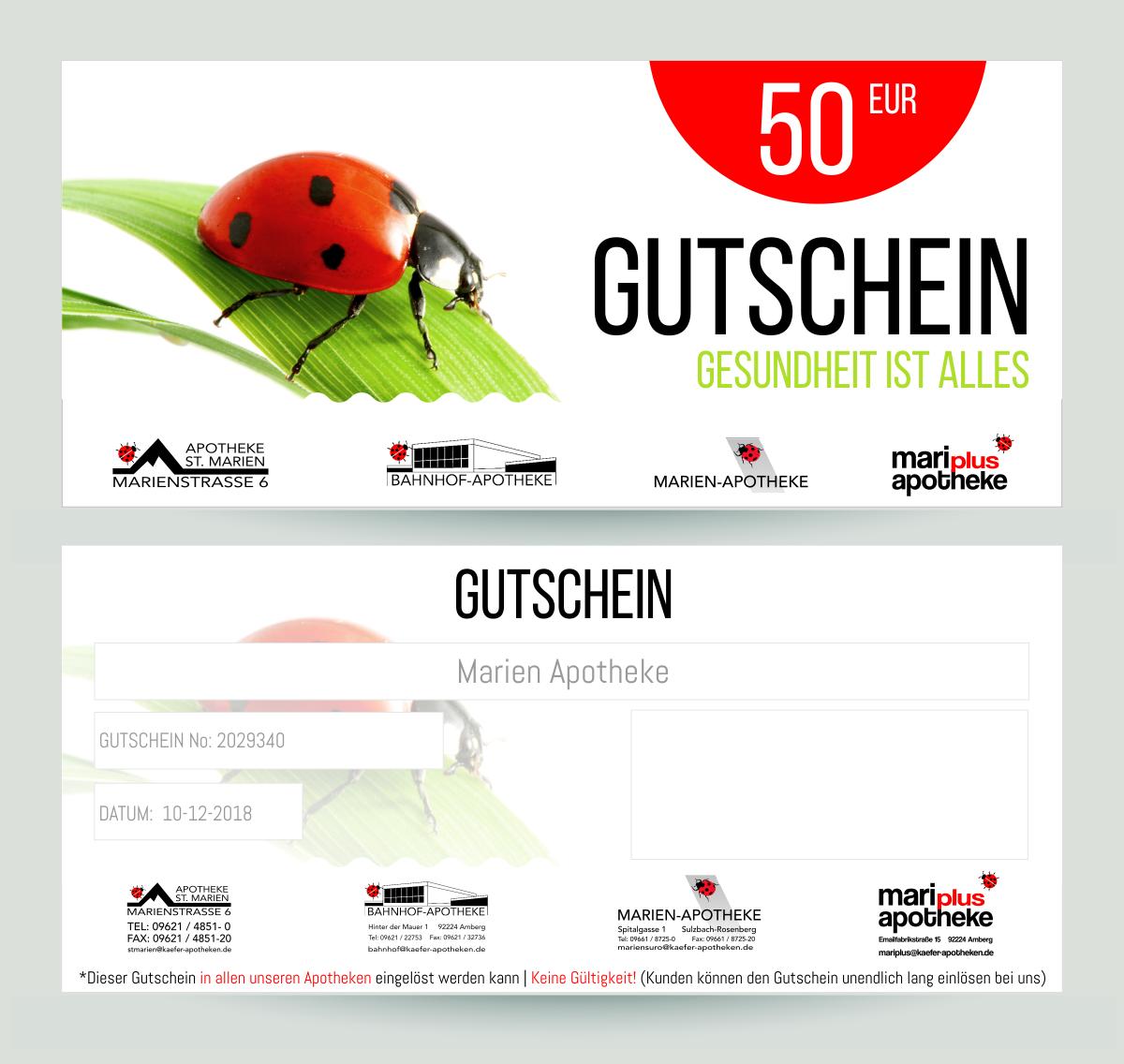 Gutschein-Design Für Apotheken » Gutschein-Design