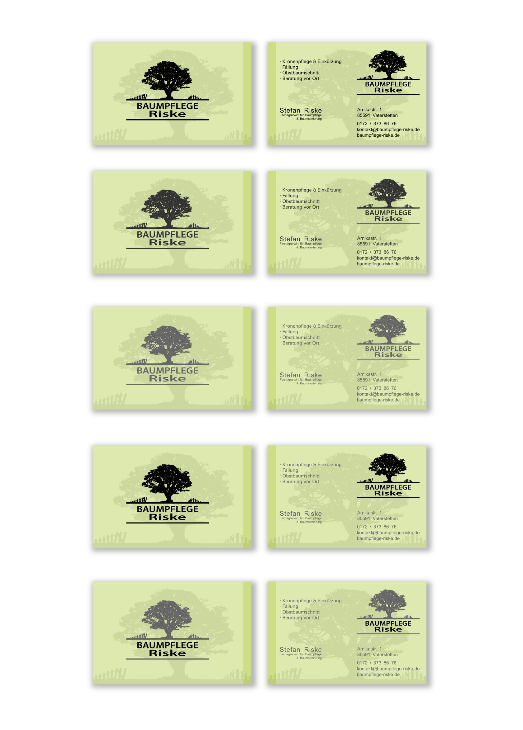 Visitenkarten Design Für Garten Und Landschafts