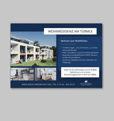 Gutschein-Design für Bauträgerfirma