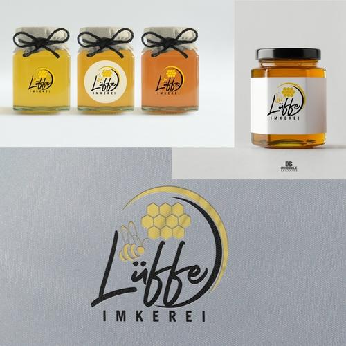 Edles Logo-Design für Imkerei