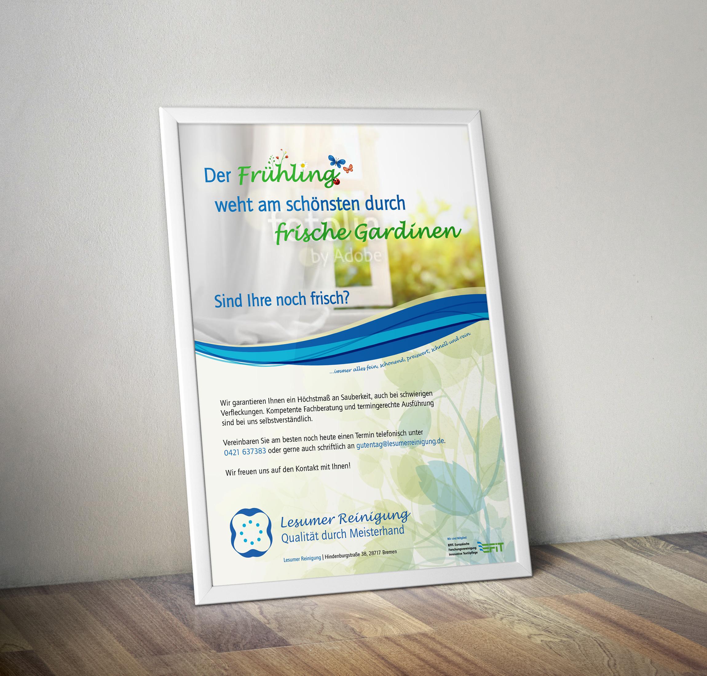 Plakat-Design für Textilreinigungsfirma » Plakat-Design » Briefing ...