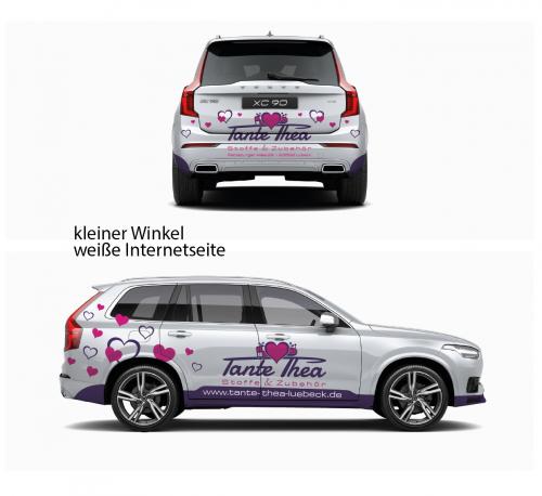 Fahrzeugbeschriftung für 'Tante Thea's' Auto