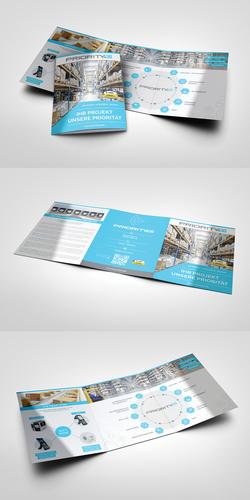 Flyer-Design für Systemhaus in der AutoID-Branche