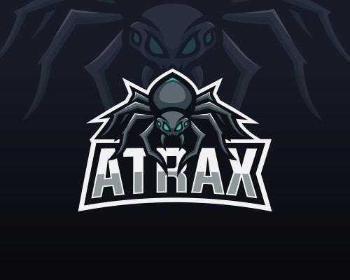 Logo mit Spinne  für Internetauftritt auf Streaming Portal twitch.tv
