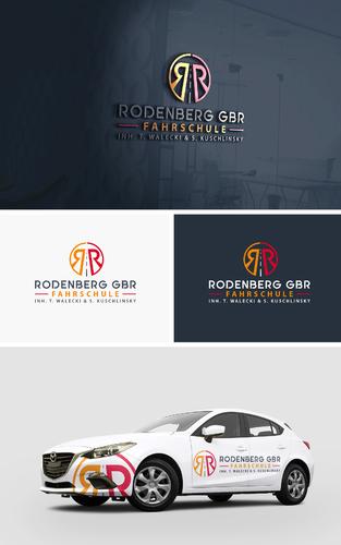 Logo-Design für moderne Fahrschule
