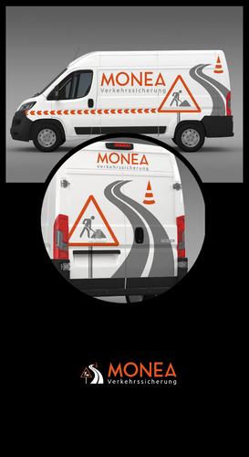 Fahrzeugbeschriftung für Verkehrssicherungsfirma