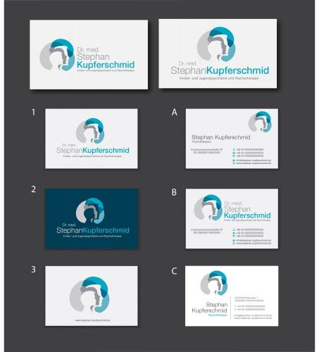 Logo & Visitenkarte für Arzt und Psychotherapeut