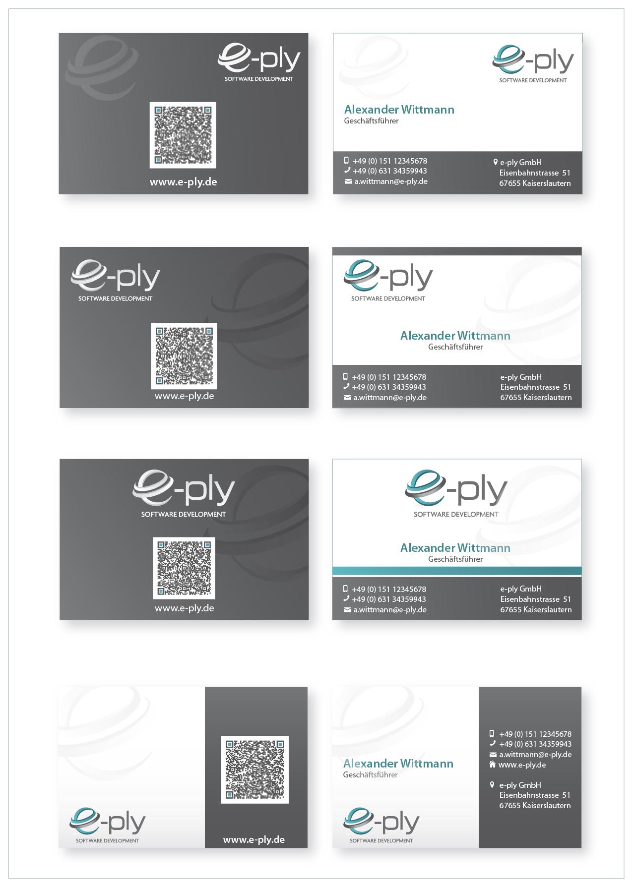 IT Dienstleister sucht modernes Visitenkarten un Business card