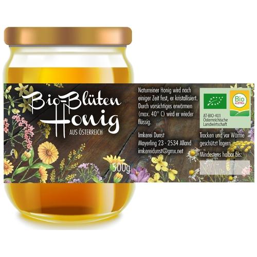 Etiketten-Design für Bio-Hobby-Imkerei