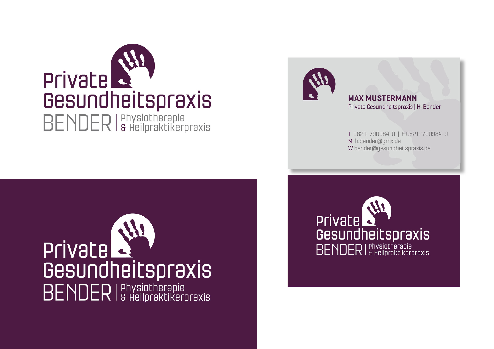 Physiotherapie Sucht Design Logo Business Card