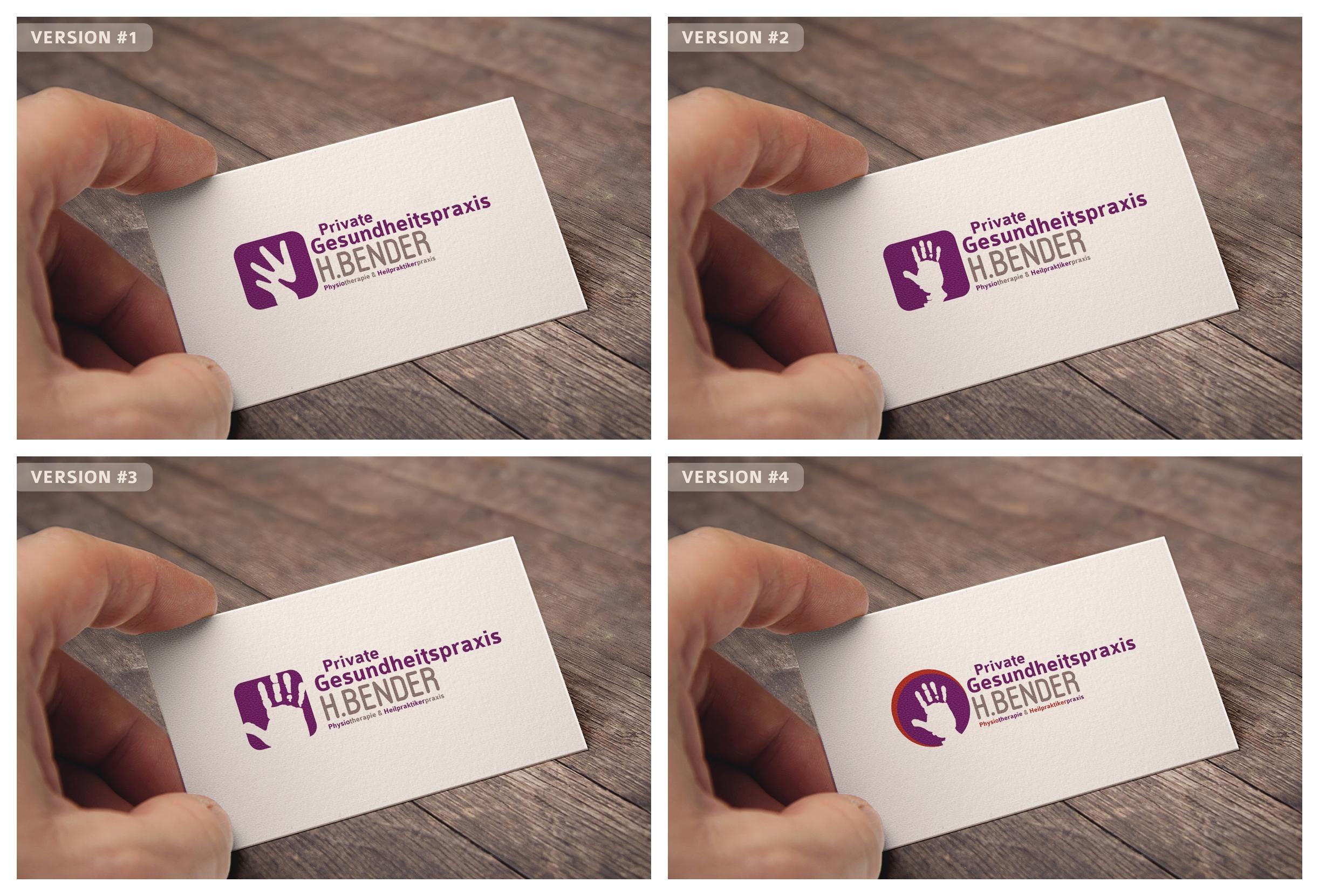 Physiotherapie Sucht Design Logo Visitenkarte