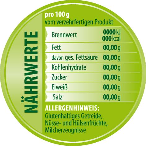 Grafik Für Nährwertangaben Etiketten Briefing Designenlassende