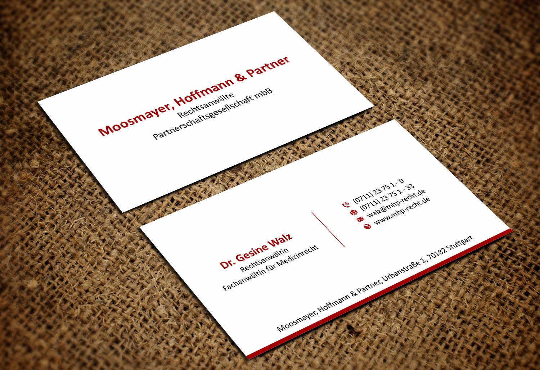 Visitenkarten Design Für Rechtsanwälte Visitenkarten