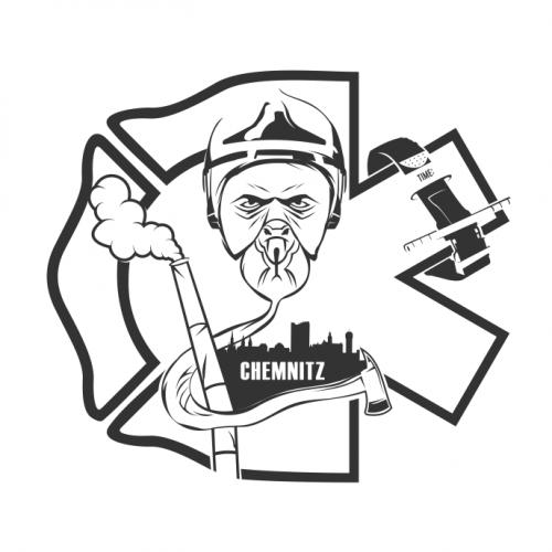 T-Shirt-Design für Kameraden der Feuerwehr
