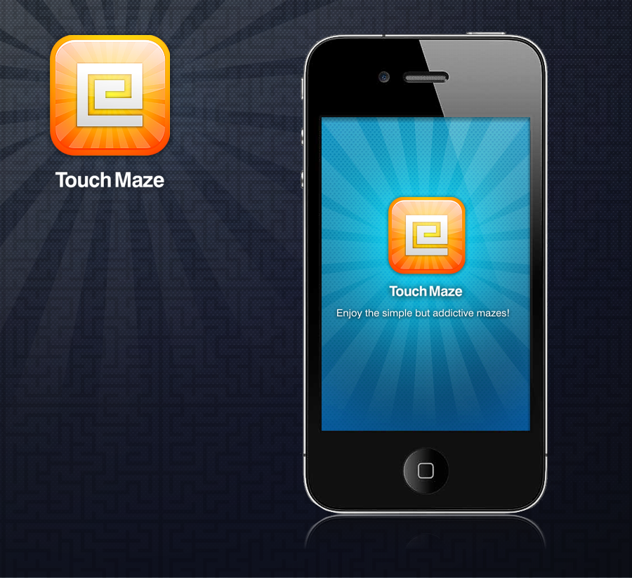Maze iPhone app UI and icon