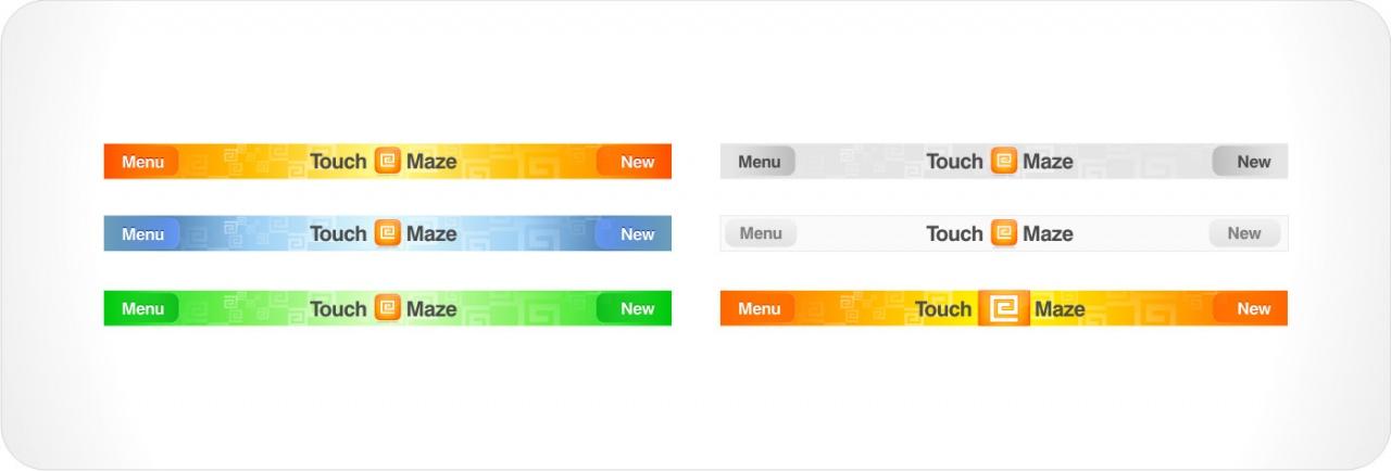 Maze iPhone app UI and icon