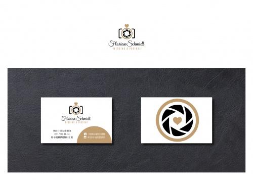Logo & Visitenkarte für Hochzeits- und Portraitfotografie