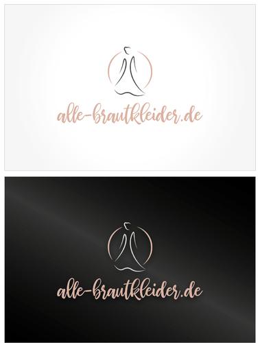Onlineportal für Brautkleider sucht romantisches Logo-Design