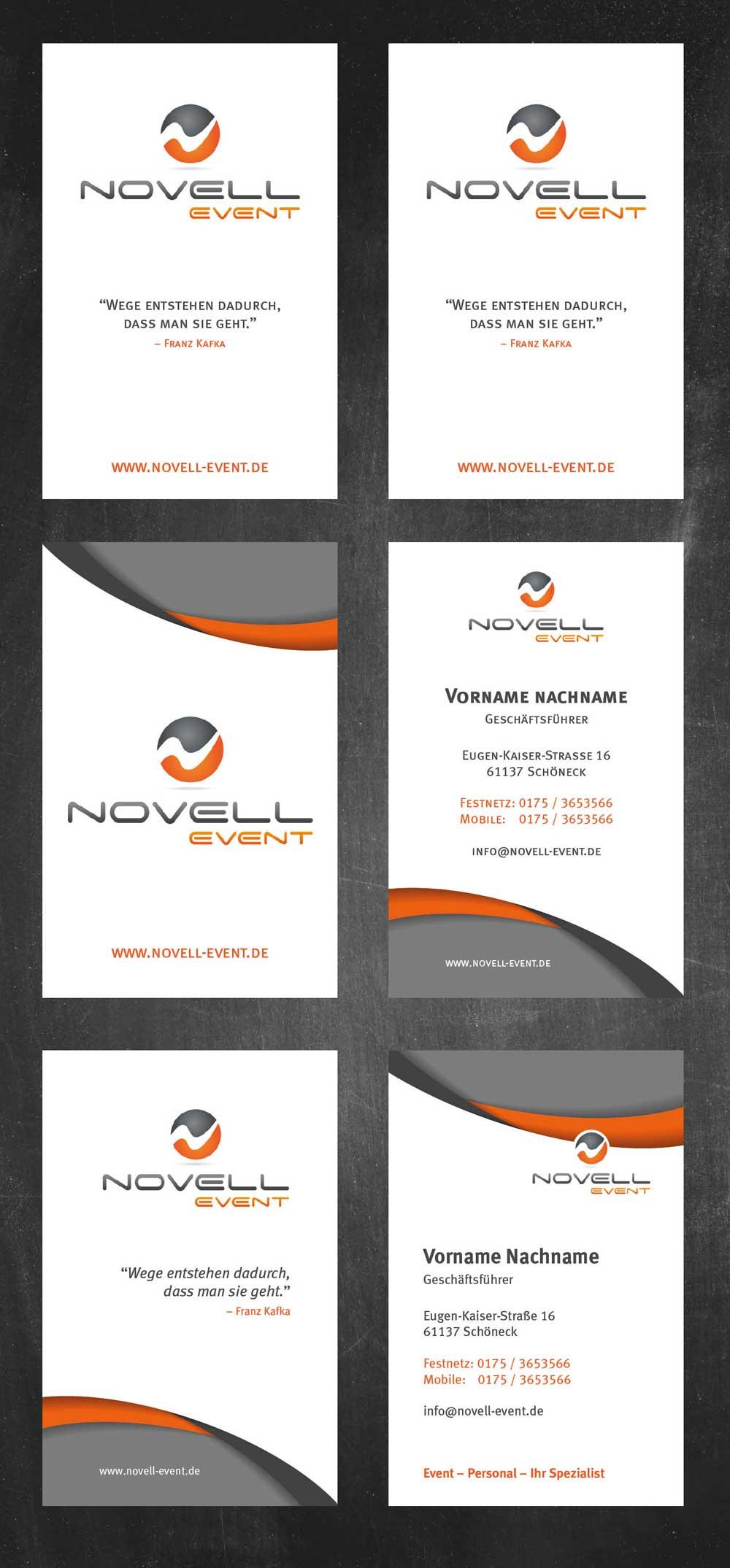 Visitenkarten Für Köchevermietung Business Card Design