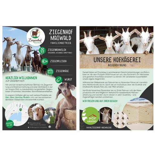 Flyer-Design für landwirtschaftlichen Betrieb