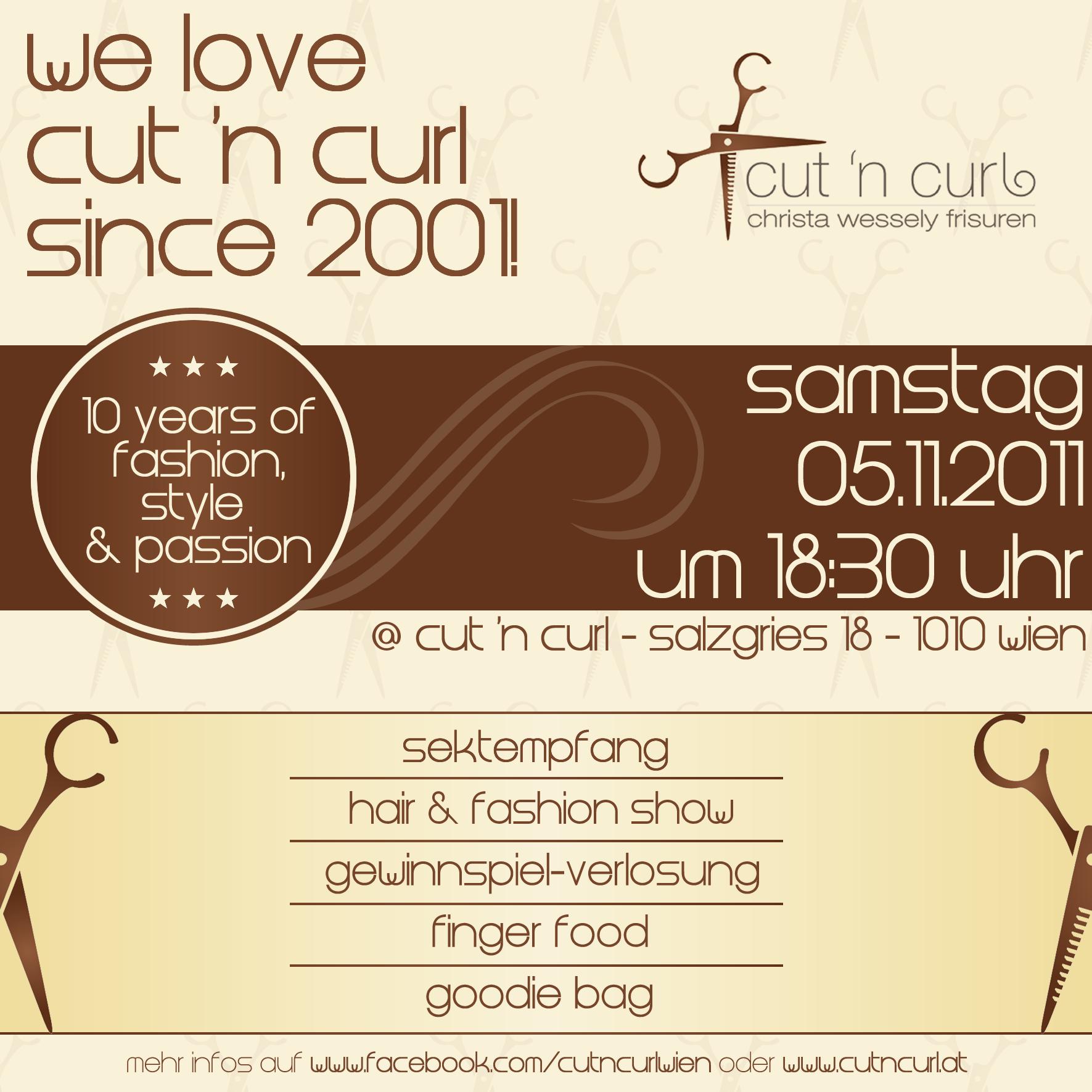 flyer für friseursalon - 10 jähriges jubiläum » einladungskarten, Einladungen