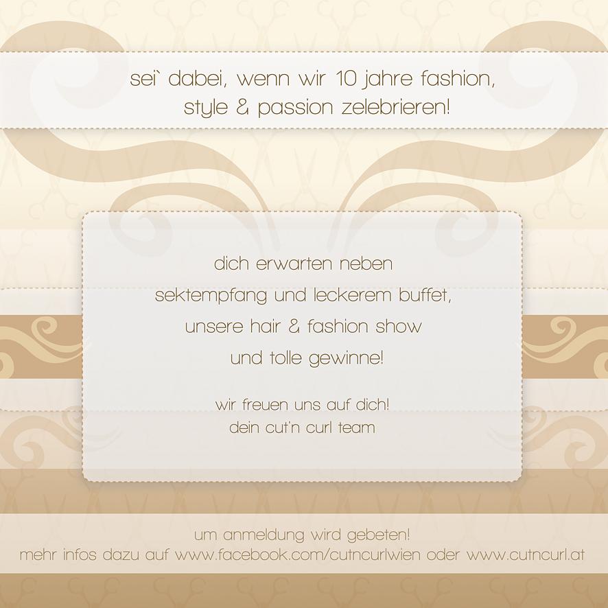 Flyer Für Friseursalon 10 Jähriges Jubiläum Einladungskarten