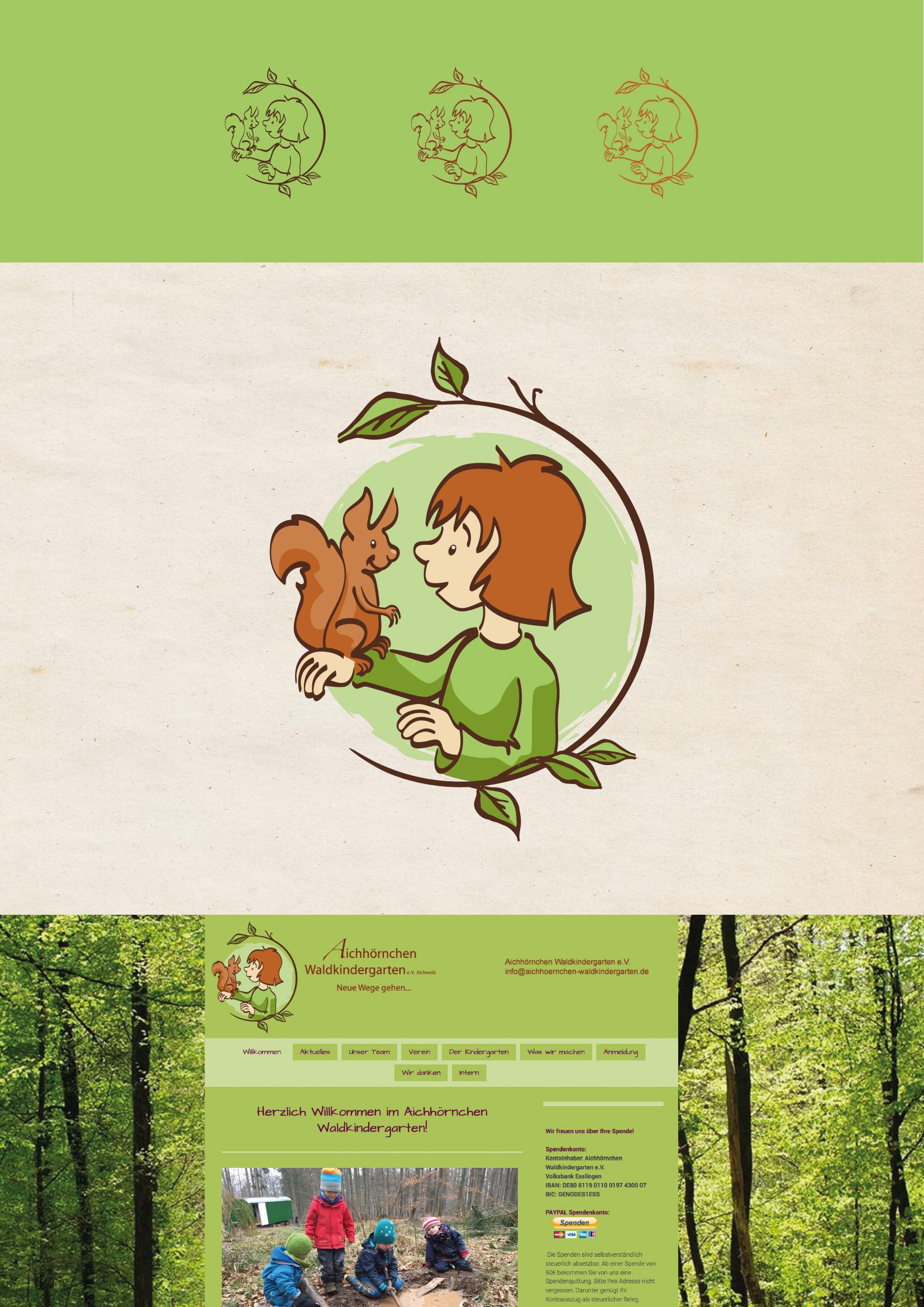 Logo-Design für Waldkindergarten
