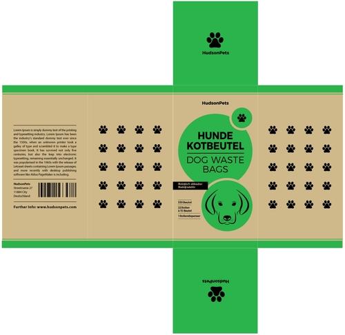 Umweltfreundliches Design für Hundekotbeutel