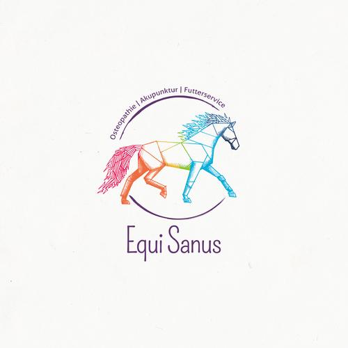 Logo-Design für Pferdeosteopathie, -fütterung & Akkupunktur