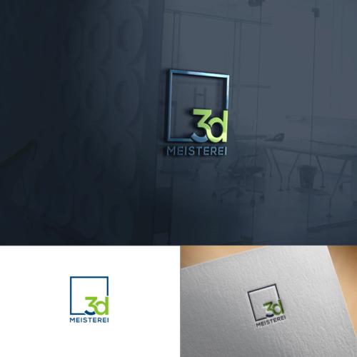 Logo-Design für 3D Meisterei