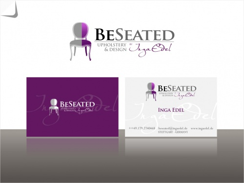 Logo for upholstery and design studio