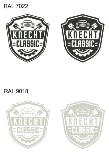 Logo-Design für Aufbau und Renovation von klassischen Fahrzeugen