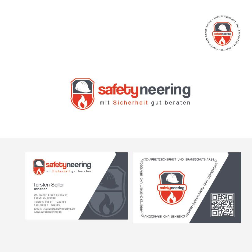 Logo Visitenkarte Für Safetyneering Logo Business Card