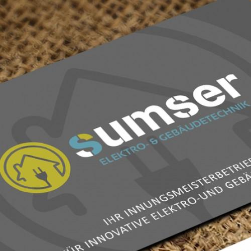 Visitenkarten-Design für aufstrebendes, modernes und innovatives Elektrounternehmen