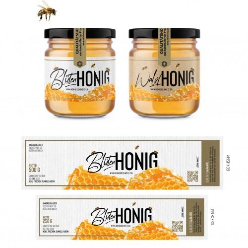 Etiketten-Design für Blütenhonig und Waldhonig gesucht