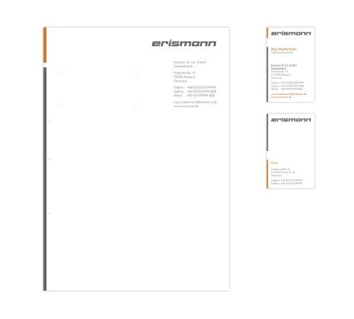 Geschäftsausstattung Mit Vorhandenem Logo Visitenkarten Design