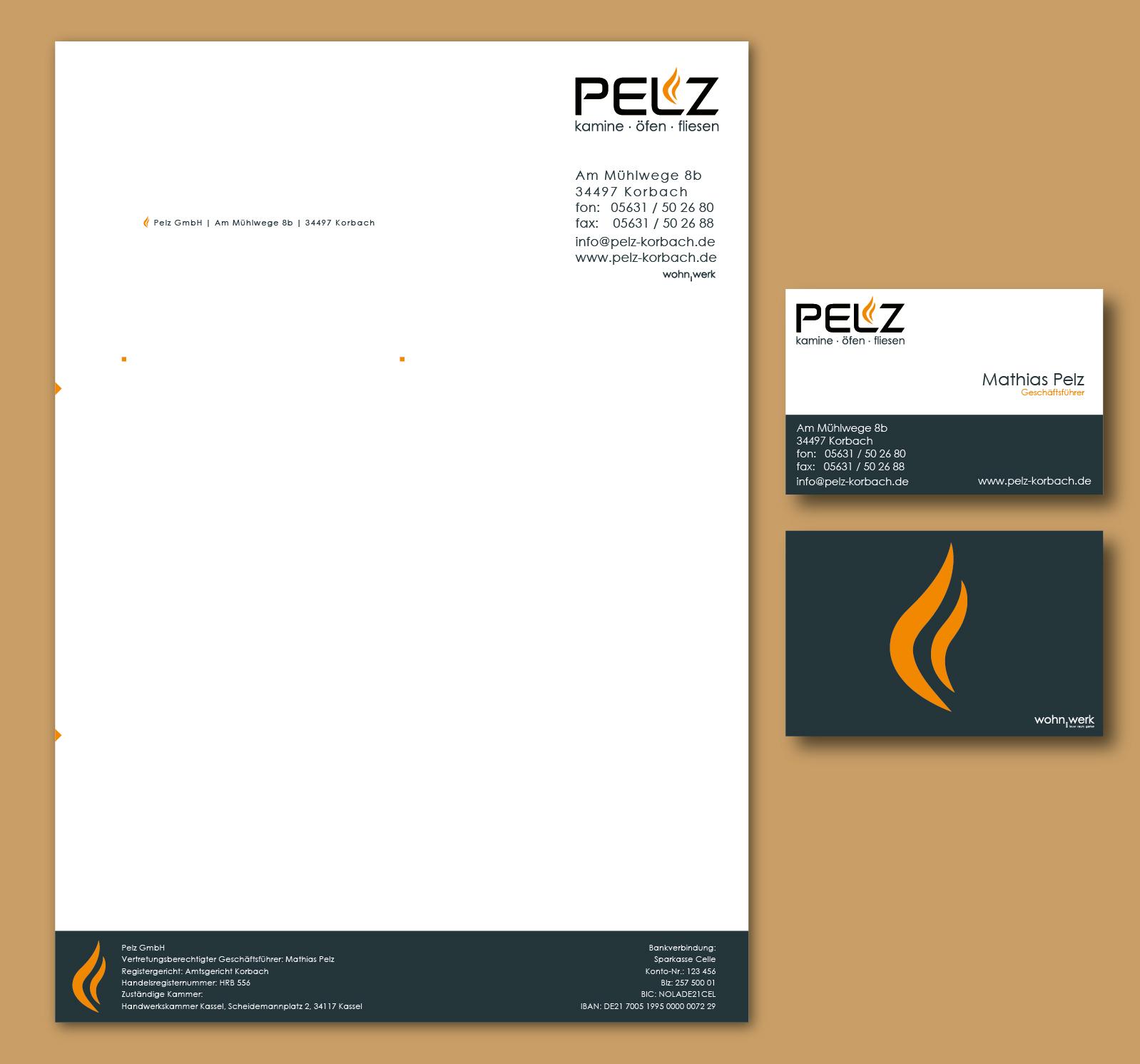 Pelz Gmbh Korbach visitenkarten und briefpapier visitenkarten design