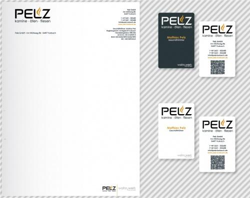 Pelz Gmbh Korbach visitenkarten und briefpapier business card design