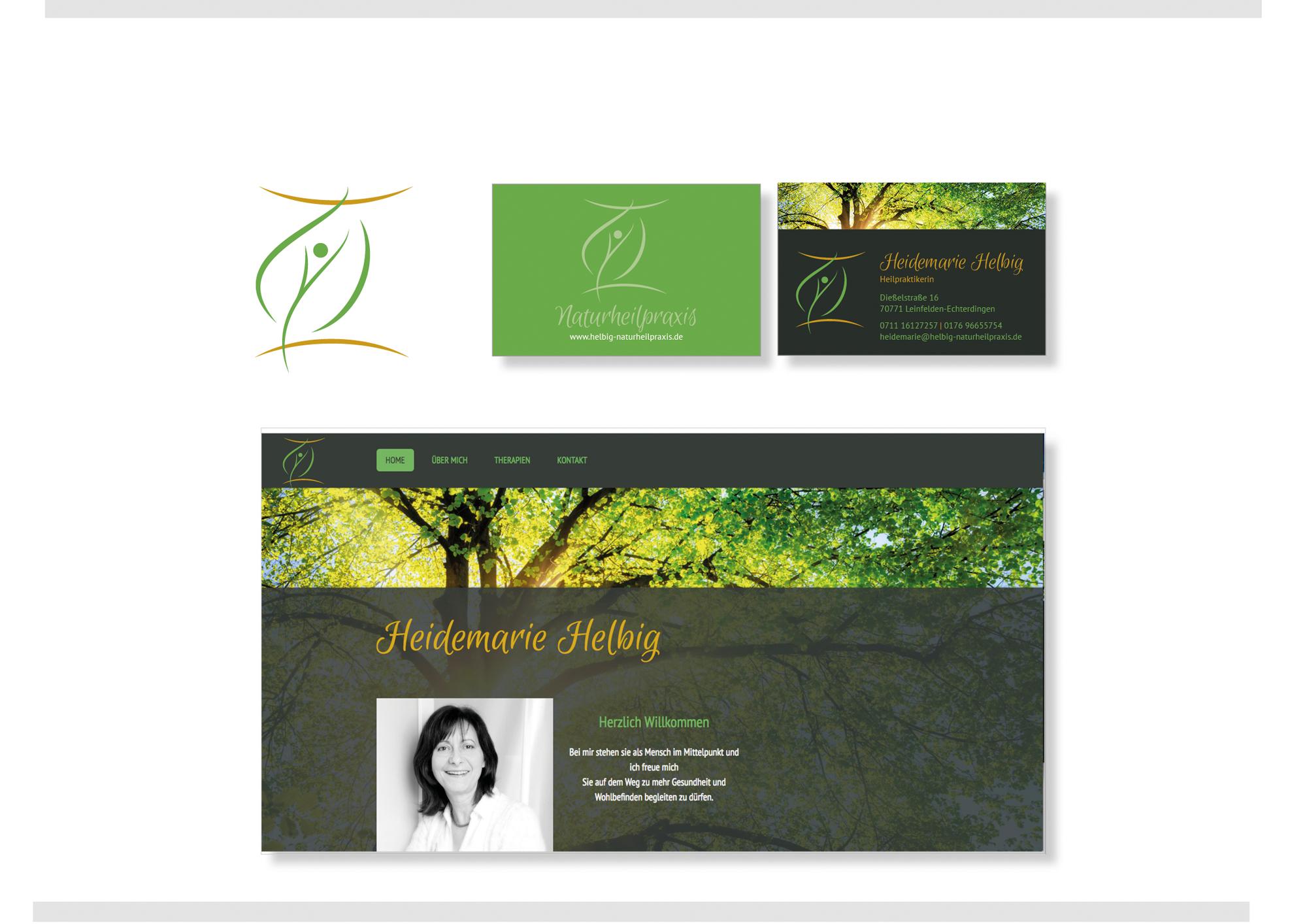 Logo Visitenkarten Design Für Heilpraktike Logo