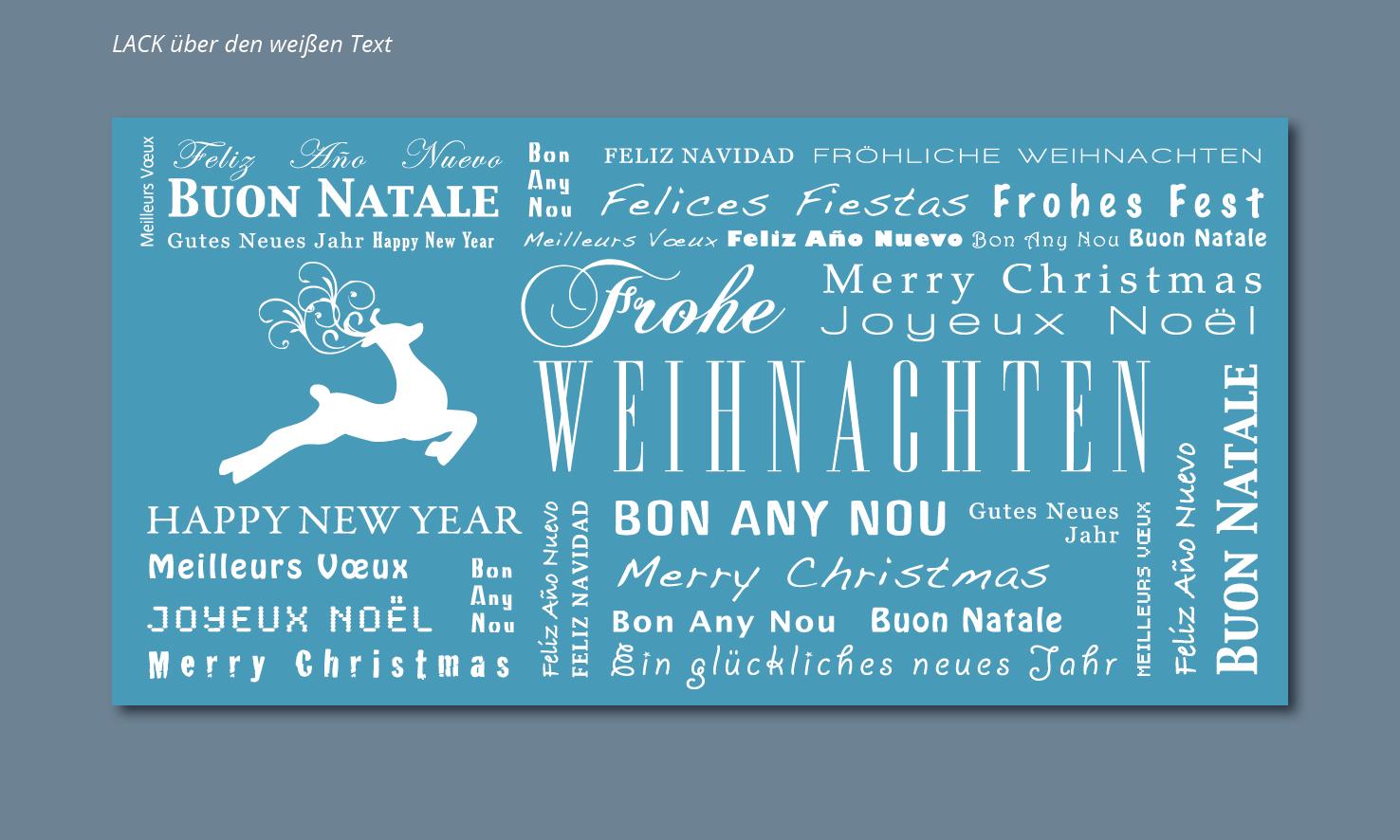 Weihnachtskarten-Design für Online-Druckerei