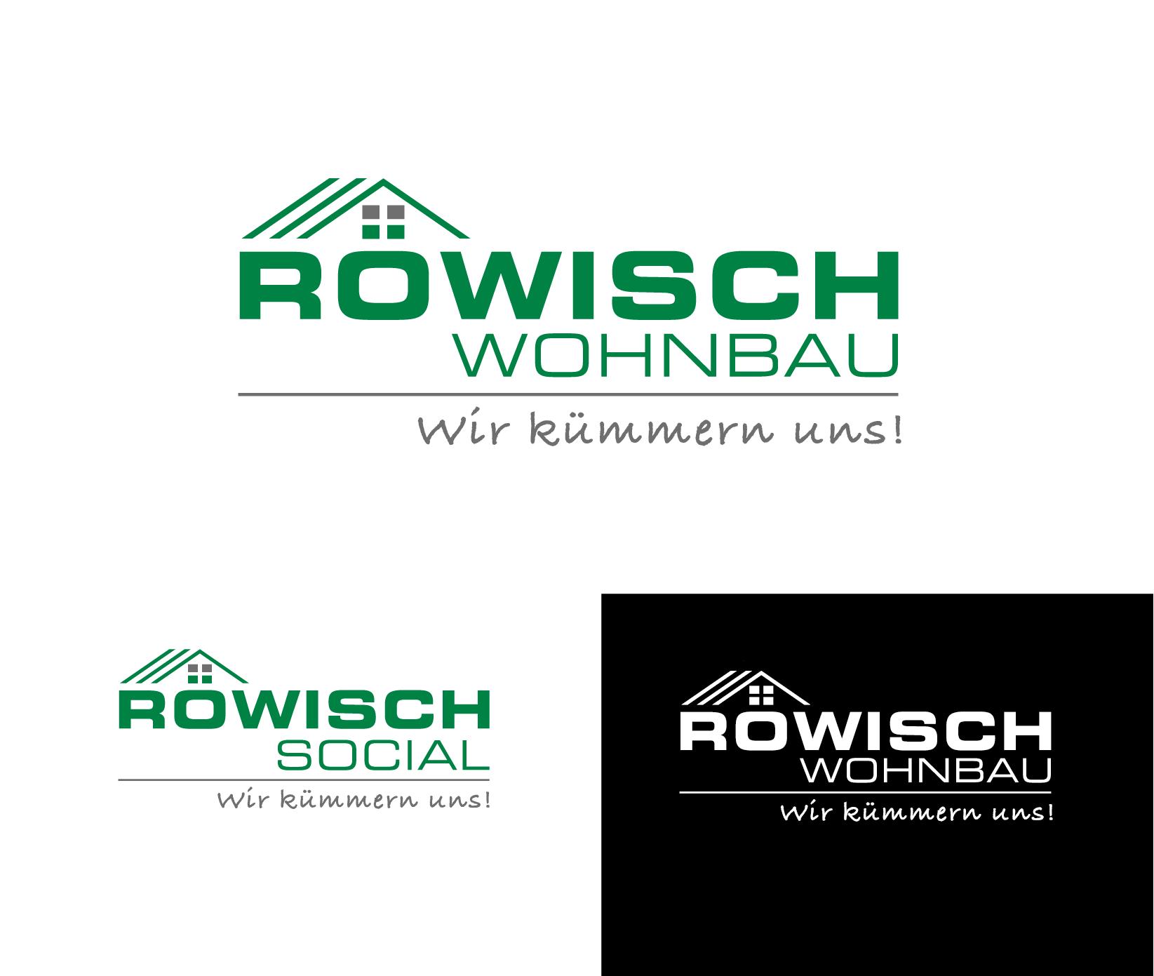Neuauflage Röwisch Wohnbau Logo Logo Visitenkarte