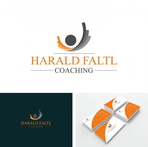 Logo Visitenkarte Für Harald Faltl Coaching Logo
