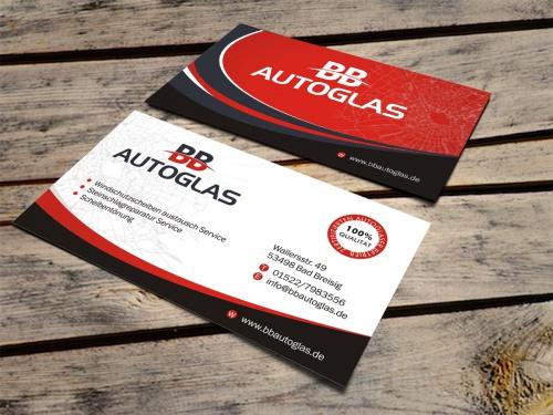 BB Autoglas braucht dringend moderne Visitenkarten
