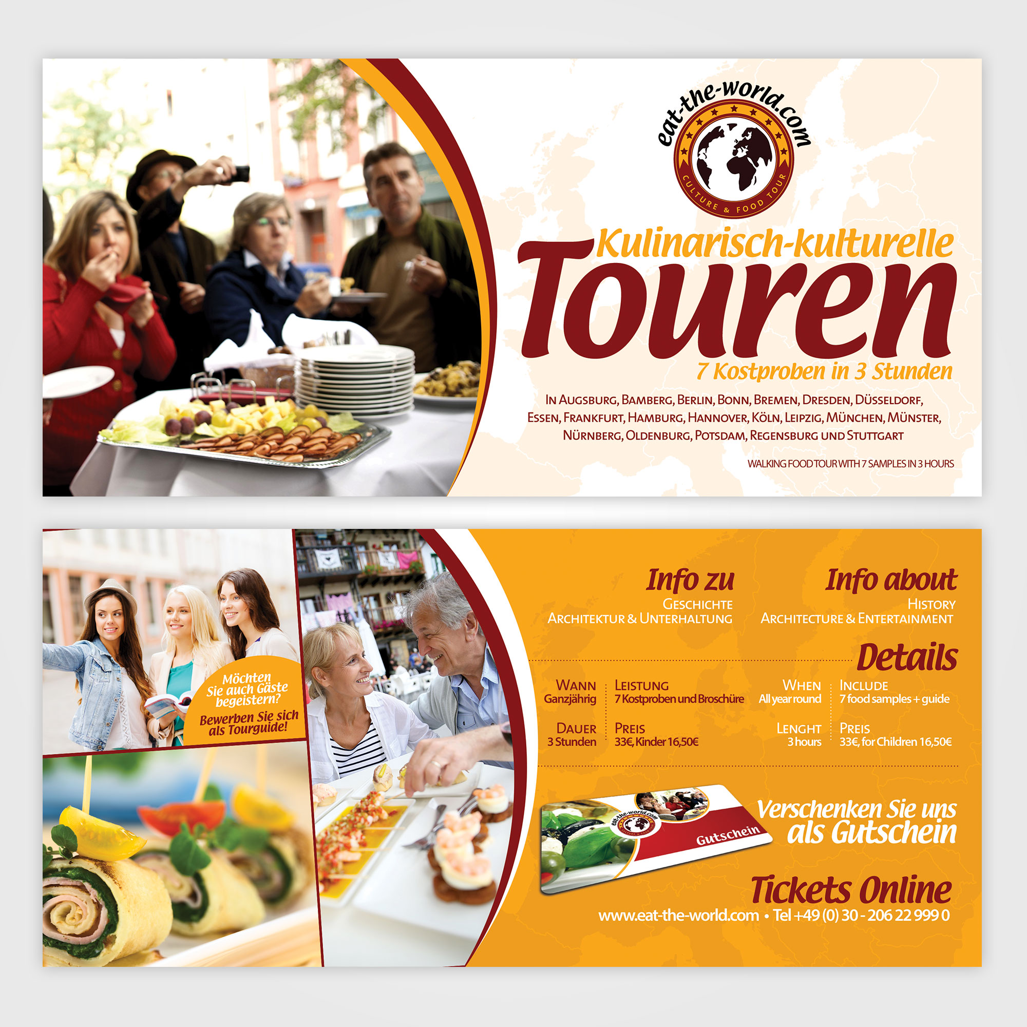 Flyer designen DIN lang (9,8 x 21 cm): food/ event