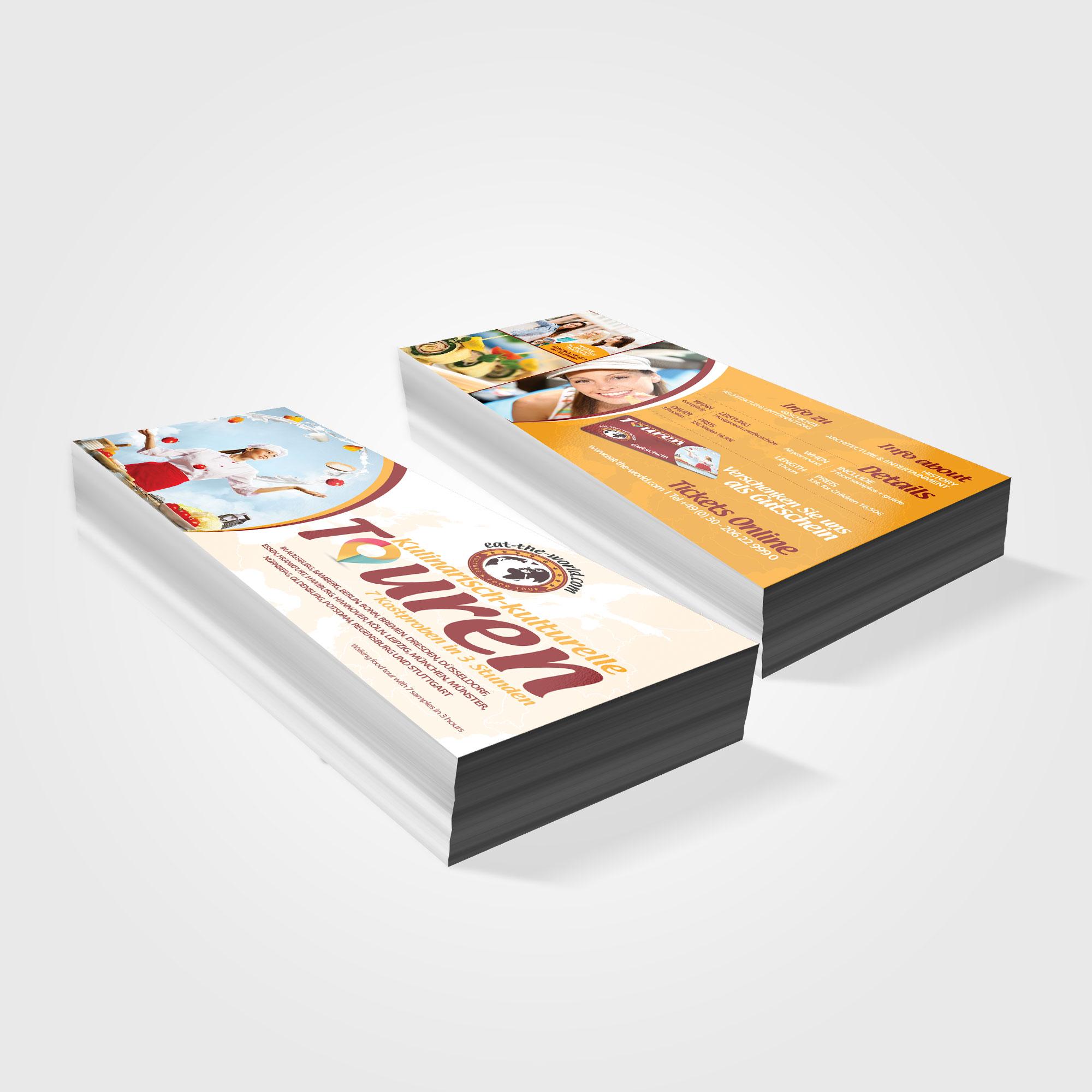 Flyer designen DIN lang (9,8 x 21 cm): food/ event