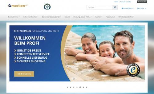 Webbanner-Design merken.at Webshop