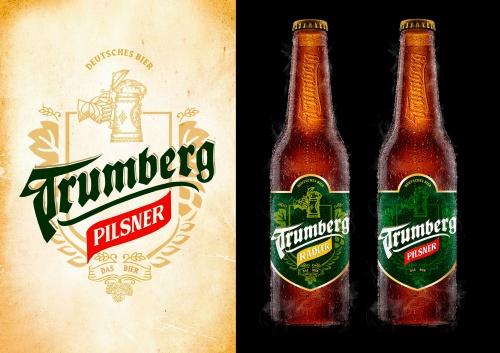 Etiketten-Design für neue Biermarke
