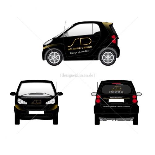 Autobeschriftung fr Firmenauto Smart
